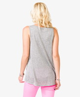 Forever 21 Heathered Cross Pocket Top