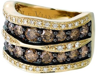 LeVian Chocolatier 14K Honey Gold 0.29 Ct. Tw. Diamond & Rubellite Ring