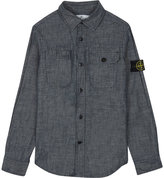 Stone Island Washed denim shirt 4-14 years