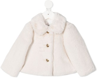 Elisabetta Franchi La Mia Bambina Faux-Fur Jacket