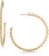 INC International Concepts Gold-Tone Studded Hoop Earrings, Only at Macy's