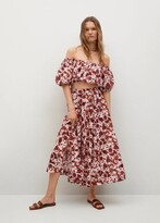Thumbnail for your product : MANGO Printed cotton skirt