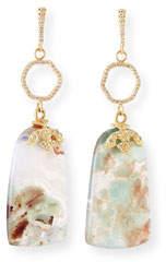 Armenta Old World Aquaprase Slice Drop Earrings