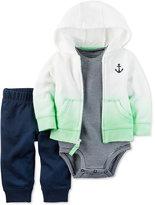 Carter's 3-Pc. Ombré Anchor Hoodie, Bodysuit & Pants Set, Baby Boys (0-24 months)