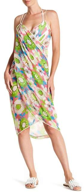 70s Floral Print Beach Cover-Up