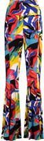 Norma Kamali Printed stretch-jersey flared pants