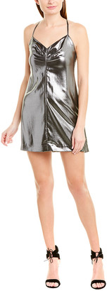 Mason by Michelle Mason Strappy Silk-Lined Mini Dress