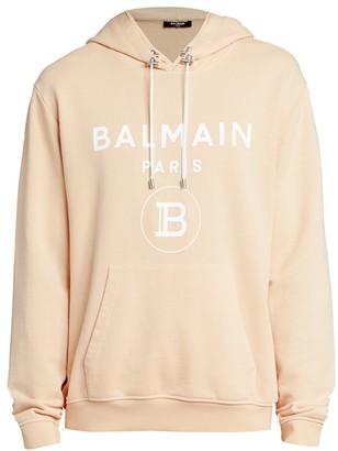Balmain Oversized Logo Hooded Sweatshirt