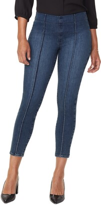 NYDJ Pintucked Pull-On Stretch Ankle Skinny Jeans