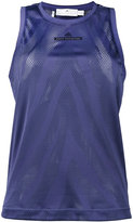 adidas by Stella McCartney perforated detail top - women - Polyester/Rayon - S