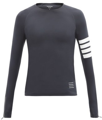 Thom Browne Four-bar Technical-jersey Compression T-shirt - Dark Grey