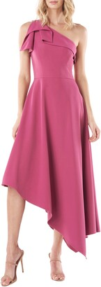 Kay Unger Bethany One-Shoulder Asymmetrical Gown
