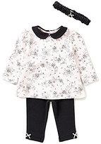 Little Me Baby Girls 3-12 Months Trellis Rose Tunic and Leggings Set