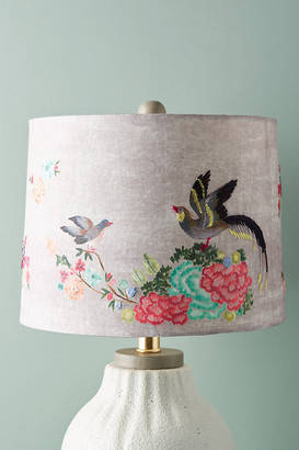 Anthropologie Gardenbird Lamp Shade By in Grey Size L