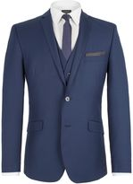 Limehaus Plain Notch Collar Slim Fit Suit Jacket