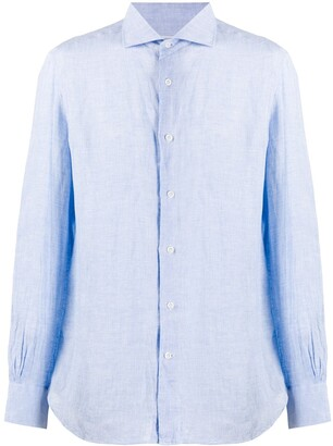 Mazzarelli French collar linen shirt