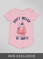 Junk Food Clothing Toddler Girls Don't Worry Be Happy Tee-patti-3t