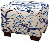 Somers Furniture Santorini 24-Inch x 18-Inch Dining Ottoman with Sunbrella® Fabric in White/Navy