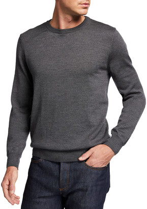A.P.C. Men's King Extrafine Merino Wool Pullover Sweater