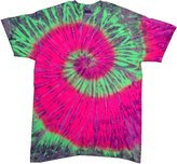Trenz Shirt Company Tie Dyes Men's Tie Dyed Performance T-Shirt H1000 Spiral-watermelon
