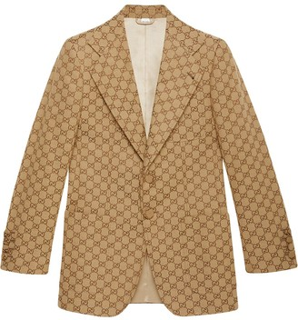 Gucci GG canvas single-breasted jacket