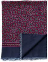Burgundy Paisley Wool Scarf Size Osfa By Charles Tyrwhitt