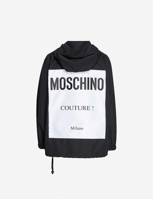 Moschino Logo-print hooded shell jacket