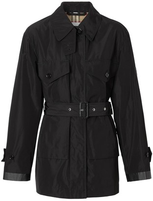 Burberry Shape-memory Taffeta Belted Jacket