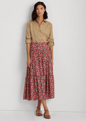 Ralph Lauren Floral Tiered Peasant Skirt
