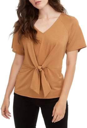 Vero Moda Cira Tie-Front V-Neck Top