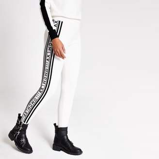 River Island Womens Cream printed side knitted joggers