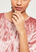 Missguided Rose Gold Four Pack Stacking Ring Set
