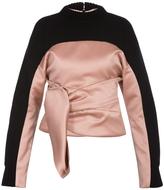 Balenciaga Drape Front Sweater