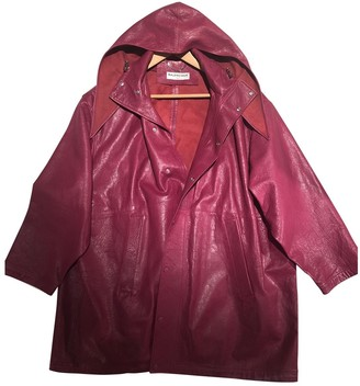 Balenciaga Pink Leather Trench Coat for Women