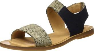 El Naturalista Women's NF36 Dolce Black/Tulip Flat Sandal 37 Medium EU (7 US)