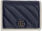 Gucci Navy GG Marmont Torchon Bifold Wallet