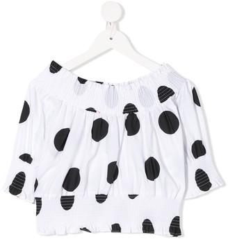 MSGM Kids polka dot print blouse