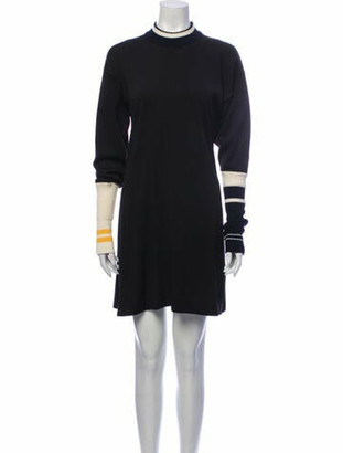 Calvin Klein Mock Neck Mini Dress Black Mock Neck Mini Dress