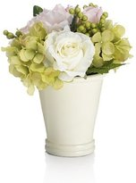Marks and Spencer Artificial Roses in Peony Glass Vase