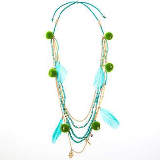 BIJOUX BAR Bijoux Bar Link Beaded Necklace
