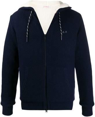 Sun 68 wool lined hoodie