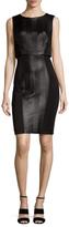 Rachel Roy Faux Suede Side Sheath Dress