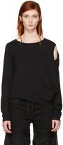 MM6 MAISON MARGIELA Black Crooked T-shirt