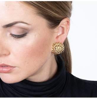 Kenneth Jay Lane Domed Button Clip Earrings