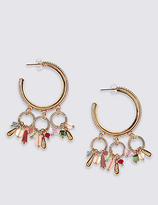 M&S Collection Multi Cluster Hoop Earrings