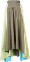 Peter Pilotto asymmetric hem full maxi skirt - women - Cotton - 8