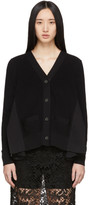 Sacai Black Wide Pleated Cardigan