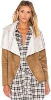 BB Dakota Bourne Jacket with Faux Fur Lining in Brown