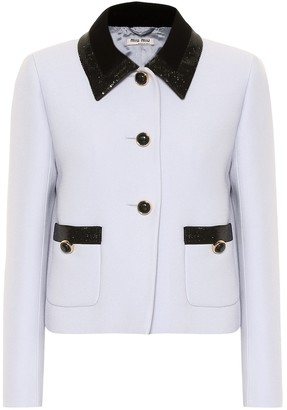 Miu Miu Sequined cady jacket