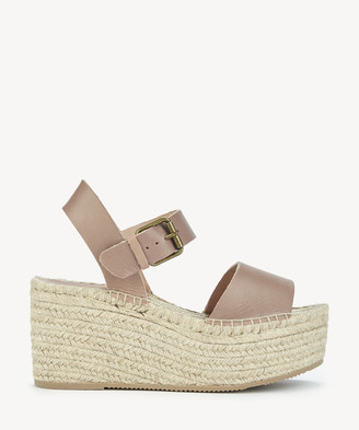 Soludos Women's Minorca High Platform Wedges Dove Grey Size 6 Leather From Sole Society